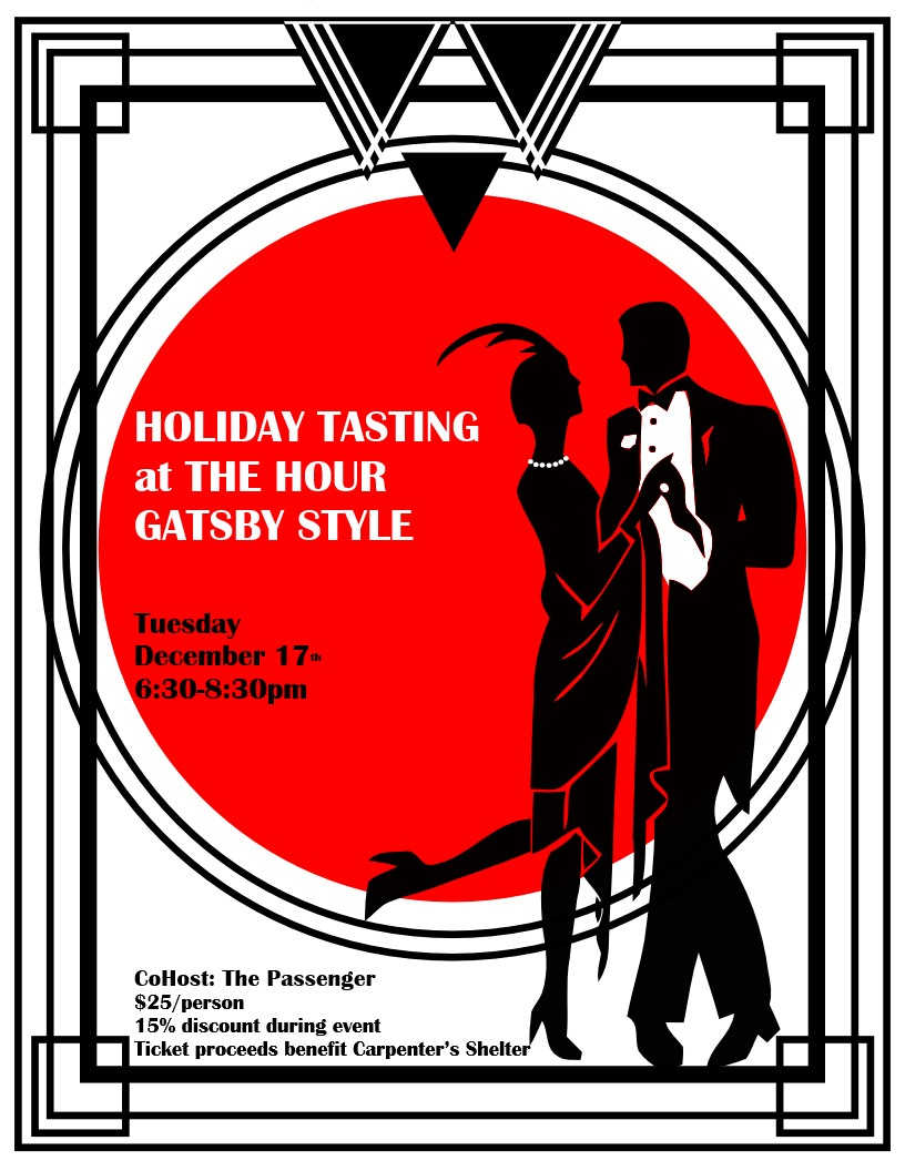 HOLIDAY TASTING PARTY GATSBY STYLE! | The Hour Shop